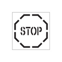 Stop Sign Stencil - Poly - 445 x 445mm