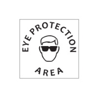 Eye Protect Area Stencil - Poly - 445 x 445mm