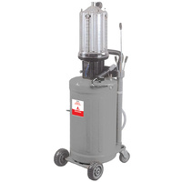 Alemlube air operated mobile waste oil evacuator with 80L reservoir and 12L inspection reservoir