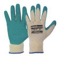 Elasticised Gloves With Latex Palm on Poly/Cotton Liner