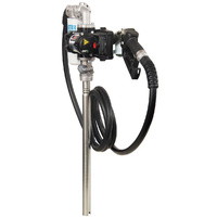 Piusi ATEX & IECEx certified 240V drum pump with auto shut off nozzle and filter, 50L/min