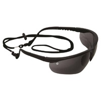 Fusion Safety Glasses Smoke Lens (& Bonus Spec Cord)