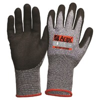 ARAX Extendor Extended Cuff Nitrile Palm on Cut 5 Liner Gloves