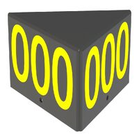 Triangular ID Box - Assembly Yellow Reflective Digits on a Black Background
