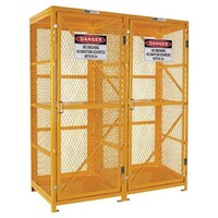 PRATT FORKLIFT CAGE 2 STORAGE  LEVELS UP TO 16 FORKLIFT CYLINDERS.
