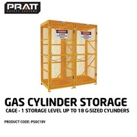 PRATT GAS CYLINDER CAGE  1 STORAGE LEVEL UP TO 18  G-SIZED CYLINDERS.