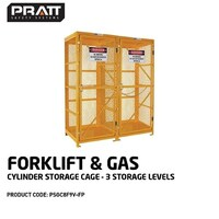 PRATT FORKLIFT & GAS CYLINDER CAGE. 3 STORAGE LEVELS.  FLAT PACKED