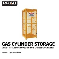 PRATT GAS CYLINDER CAGE  1 STORAGE LEVEL UP TO 9  G-SIZED CYLINDERS. FLAT PACKED