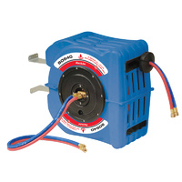 Alemlube S Series 20m x 6mm ID argon hose reel at covered