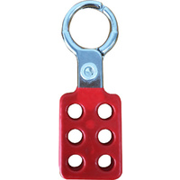Lockout Hasp Aluminium Spark Resistant with 38mm Jaws - RED Coating