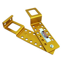Kelmac Multiclip Safety Lockout  Hasp 12 Holes - Yellow