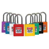 438 Series Safety Lockout Padlock - Xenoy Body, 38mm SS Shackle with 2 KEYS - XXX insert colour