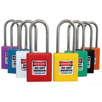 450 Series Safety Lockout Padlock - Xenoy Body, SS Shackle - Master Keyed - XXX insert colour